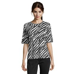 Betty Barclay Zebra Print T Shirt Black