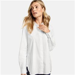 Gerry Weber Long Sleeve Blouse With Concealed Button Placket White