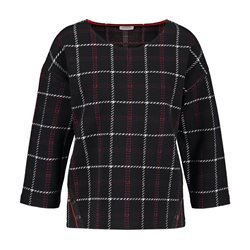 Gerry Weber 3/4 Sleeve Check Jumper Black