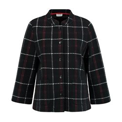 Gerry Weber Short Checked Jacket Black