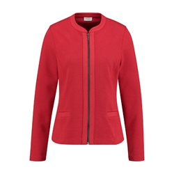 Zipped Jacket Red