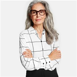 Gerry Weber Windowpane Check Blouse White