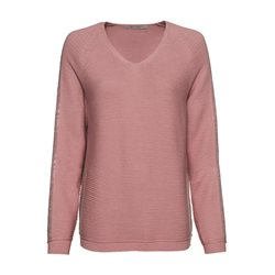 Monari V Neck Jumper With Rhinestone Detail Pink