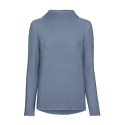 Monari Jumper With Stand Up Collar Blue