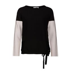 Monari Two Colour Jumper With Chain Detail Black