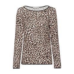 Monari Animal Print Top Taupe