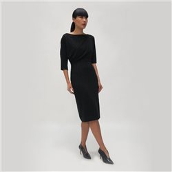 Fee G Layered Shimmer Dress Black