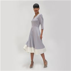 Fee G Colour Block Swing Dress Grey