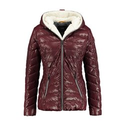 Taifun Quilted Jacket With Faux Fur Lining Wine