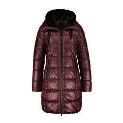 Taifun Long Quilted Coat Wine