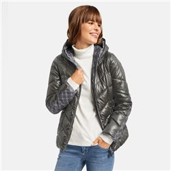 Taifun Quilted Jacket With Hood Grey