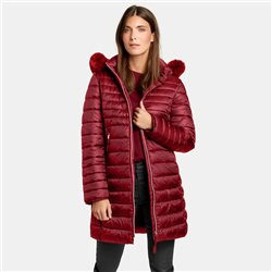 Gerry Weber Padded Coat With Horizontal Quilting Red