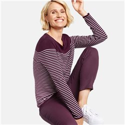 Gerry Weber Striped Jumper With Sparkle Detail Purple