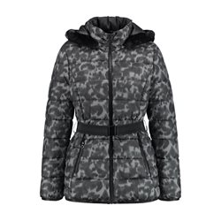 Gerry Weber Quilted Animal Print Coat Grey