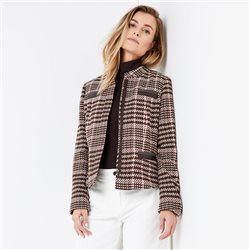 Gerry Weber Checked Jacket Brown