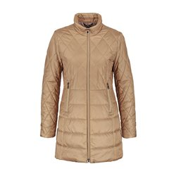 Gerry Weber Padded Coat With Diamond Stitching Beige