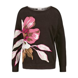 Gerry Weber Large Flower Design Jumper Brown