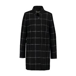 Gerry Weber Checked Wool Mix Coat Black