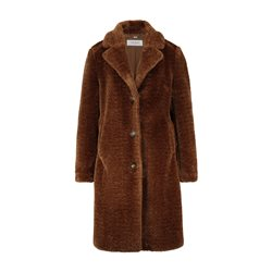 Gerry Weber Checked Wool Mix Coat Tobacco