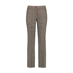 Gerry Weber Wool Mix Check Trouser Brown
