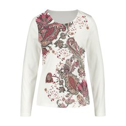 Gerry Weber Long Sleeve Top With Paisley Print Cream