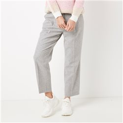 Gerry Weber 7/8 Wool Mix Trouser Grey