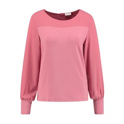 Gerry Weber Round Neck Top With Cuff Sleeve Detail Pink