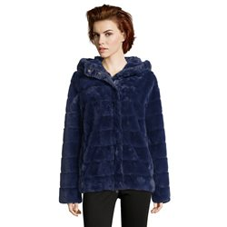 Betty Barclay Faux Fur Jacket Blue