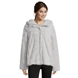 Betty Barclay Faux Fur Jacket Grey