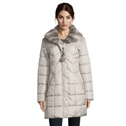 Betty Barclay Quilted Coat Silver