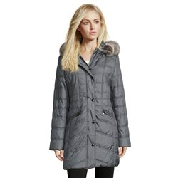 Betty Barclay Quilted Coat With Hood Blue