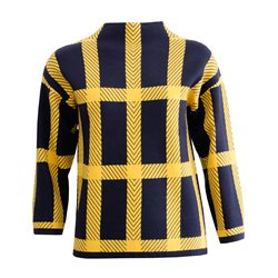 Emreco Checked Print Jumper Blue