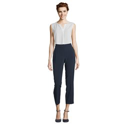 Betty Barclay Crepe Trousers Navy