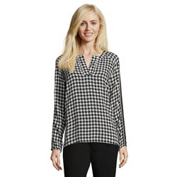 Betty Barclay Herringbone Print Blouse Black