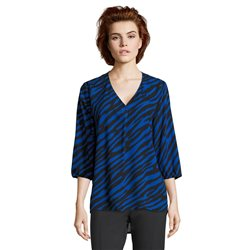 Betty Barclay Zebra Print Blouse Blue