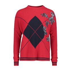 Betty Barclay Fine Knit Jumper With Embellished Detail Red
