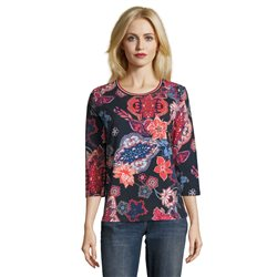 Betty Barclay Floral Print Top Navy