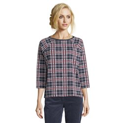 Betty Barclay Checked Top Navy
