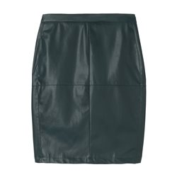 Sandwich Vegan Skirt With Back Slit Green