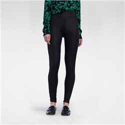 Sandwich Leggins With Coating Black