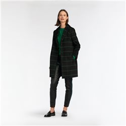 Sandwich Plaid Coat Black