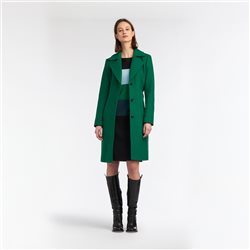 Sandwich Coat With Lapel Collar Green