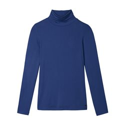 Sandwich Turtle Neck Top Blue