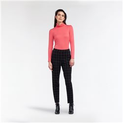 Sandwich Turtle Neck Top Pink