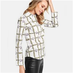 Gerry Weber Chain Print Design Blouse White
