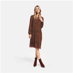 Gerry Weber Chiffon Dress With Leopard Print Brown