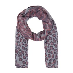 Betty & Co Animal Print Scarf Rose