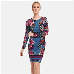 Taifun Floral Print Dress Blue