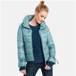 Taifun Quilted Jacket With Stand Up Collar Blue