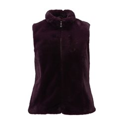 Lebek Faux Fur Gilet Purple
